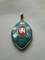 Pendentif Om tibétain Ovale