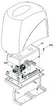 """CAPOT Platine """"Transparent"""" pour BX-243 - 119RIBX038 CAME"""