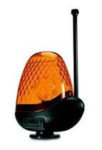 LAMPE CLIGNOTANTE ORANGE MIRI / 230 V AVEC ANTENNE - FADINI ACA2197