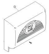 """CAPOT platine """"gris foncé"""" pour moteur BX-74 / BX-78 - 119RIBX001 CAME"""