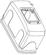 CACHE MOTEUR avec trappe pour Ferni - 119RID122 CAME