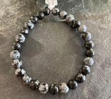 Obsidienne Flocon de neige - bracelet