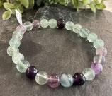 Fluorite verte et violette - bracelet