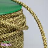 Cordón tubular dorado 435 - 0,5cm