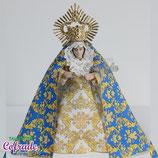 Virgen 16,5 cm - Vestida mini brocado