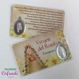 Medalla metal plastificada - Virgen del Rocío