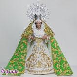 Virgen 16,5 cm - Vestida Oliva