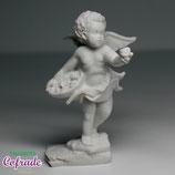 Ángel de pie con flores - 9 cm