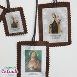 Escapulario Corazón de Jesús y Carmen