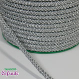 Cordón tubular plateado 435 - 0,5cm