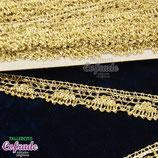 Encaje dorado 182 con lámina- 2cm