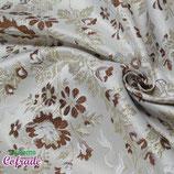 Brocado 05.02 - Blanco flor marrón