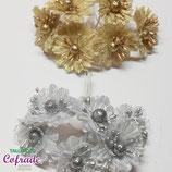 Flores 12.2y3 - oro y plata
