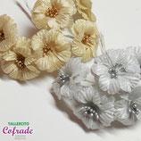 Flores 12.4 - oro y plata