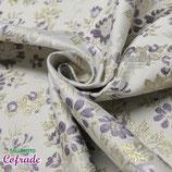Brocado 05.02 - Blanco flor violeta