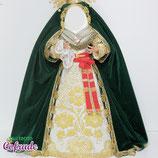 Manto Terciopelo con encaje - para 25 a 65 cm (varios colores)