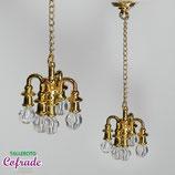 Lámpara 5 tulipas metal