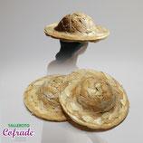 Sombrero mimbre para 16,5 cm