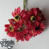 Flores 4cm - Rojas Margaritas