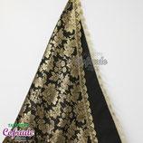 Manto Brocado 12 con encaje dorado - para 70 a 120 cm (Negro)