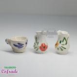 Piezas cerámica blanca decorada - 7723