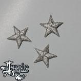 Aplique bordado 162 - Estrella plata