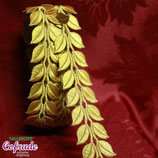 Aplique bordado en tira 06 - hojas 3,7 cm