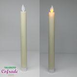 Pack 2 velas artificiales - efecto llama movimiento