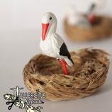 Cigüeña en nido 578