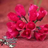 Flor roja 2 cm
