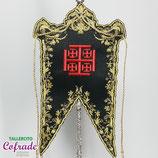 Estandarte bordado Cruz de Jerusalén