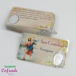 Medalla metal plastificada - S. Cristóbal