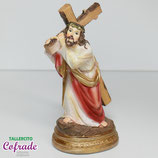 Jesús con la cruz 12 cm