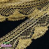 Encaje dorado 184 con lámina- 5cm