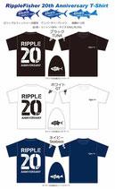 リップルフィッシャー 20周年 アニバーサリーTシャツ
