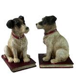 Paar Buchstützen Terrier