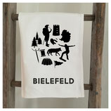 Geschirrtuch »Bielefeld–weiss«