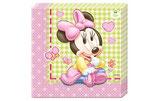 Serviette Minnie Mouse Baby 20Stk.