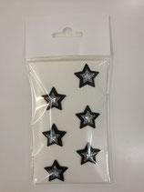 Sticker Stern schwarz/ d.grau