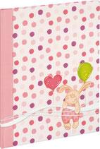 Babytagebuch kleiner Hase rosa