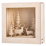 Holzbausatz 3D-Motivrahmen, Winterland