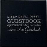 Gästebuch schwarz/ silber