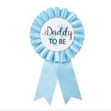 Anstecker Daddy to Be blau