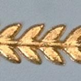Wachsdekor Borte, Blätter