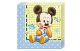 Serviette Mickey Mouse Baby 20Stk.