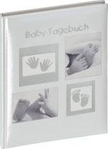 Babytagebuch Füsse grau