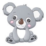 Schnulli-Silikon Koala grau