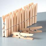 Holzklammern, klein, weiss