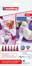 EDDING Porzellan-Pinselstifte 4200 Set 02