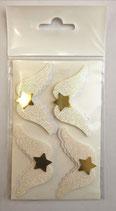 Sticker Flügel weiss/ weissglitter/ goldglanz 10